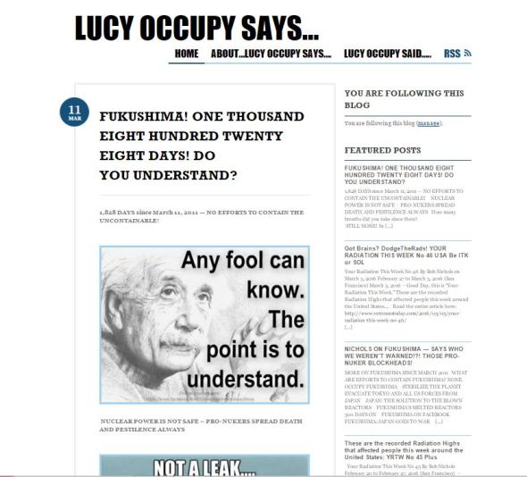 LUCY OCCUPY SAID ON MARCH 11