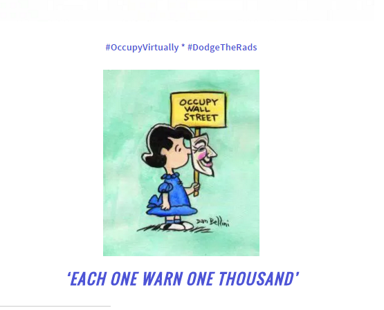 LUCY OCCUPY SAYS EACH ONE WARN ONE THOUSAND